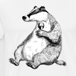 Badger with Wine  Aprons - Men's Premium T-Shirt