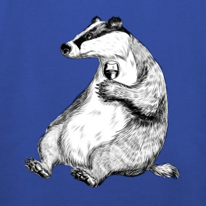 Badger with Wine T-Shirts - Kinder Premium Hoodie