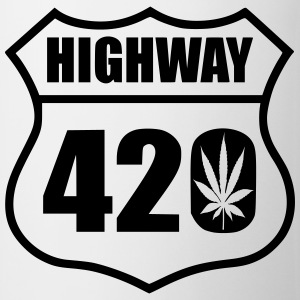 highway 420 feuille Tee shirts - Tasse