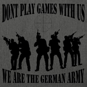 dont_play_games_with_us__bw Pullover & Hoodies - Schultertasche aus Recycling-Material