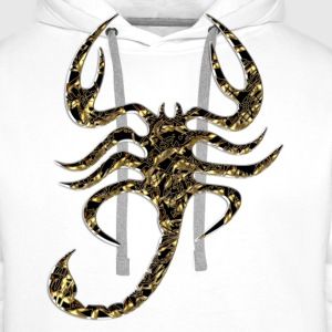 Scorpion, noir, Or Tee shirts - Sweat-shirt à capuche Premium pour hommes