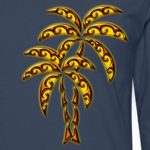 Palm Tree / Tattoo Style / DD / T-shirts - Långärmad premium-T-shirt herr