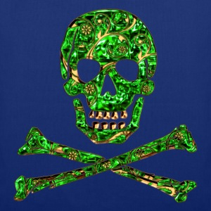 Skull, Emerald, pirate, digital, Crystal Skull T-shirts - Tas van stof