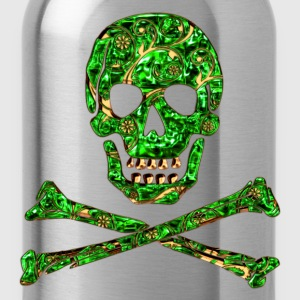 Skull, Emerald, pirate, digital, Crystal Skull T-shirts - Drinkfles