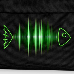 Fish skeleton, music, wave, party, frequency, dj - Kids' Backpack