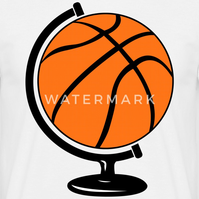 Basketbal wereldbol  T-shirts - Mannen T-shirt