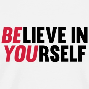 Believe in Yourself Badges - T-shirt Premium Homme