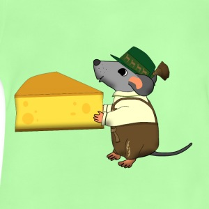 bavarian mouse with cheese Väskor & ryggsäckar - Baby-T-shirt