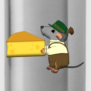 bavarian mouse with cheese Tassen & rugzakken - Drinkfles