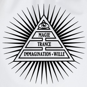 MAGIE = Wille + Immagination + Trance, Grundformel T-Shirts - Turnbeutel