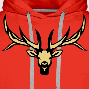 cerf animal foret sauvage deer 18 Tee shirts - Sweat-shirt à capuche Premium pour hommes