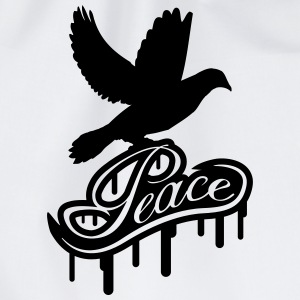Peace Dove Graffiti T-shirts - Gymtas