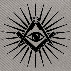 Masonic symbol, all seeing eye, freemason Gensere - Snapback-caps