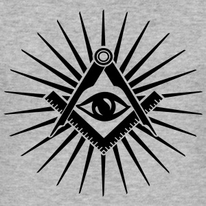Masonic symbol, all seeing eye, freemason Felpe - Maglietta aderente da uomo