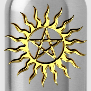 Pentagram - Blazing Star- Sign of intellectual omnipotence and autocracy. digital gold, Star of the Magi , powerful symbol of protection T-Shirts - Water Bottle