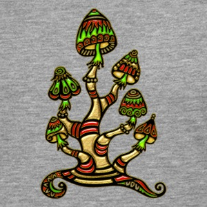 Magic mushrooms, psychedelische Pilze, Wunderland T-shirts - Långärmad premium-T-shirt herr