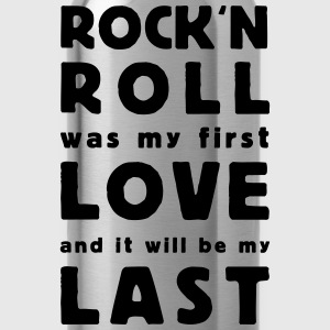 rock n roll was my first love - Trinkflasche