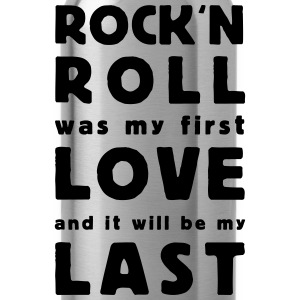 rock n roll was my first love T-shirts - Drikkeflaske