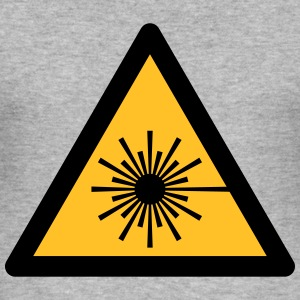 Hazard Symbol - Laser Light (2-color) Hoodies & Sweatshirts - Men's Slim Fit T-Shirt