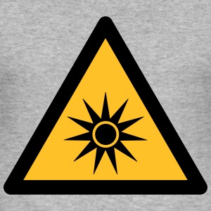 Hazard Symbol - Optical Radiation (2-color) Hoodies & Sweatshirts - Men's Slim Fit T-Shirt