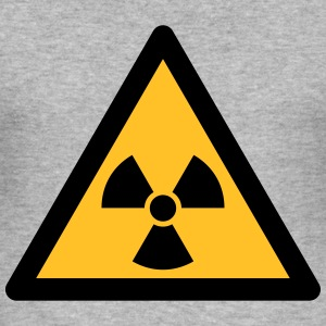 Hazard Symbol - Radioactivity (2-color) Hoodies & Sweatshirts - Men's Slim Fit T-Shirt