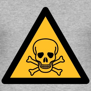 Hazard Symbol - Poisonous (2-color) Hoodies & Sweatshirts - Men's Slim Fit T-Shirt
