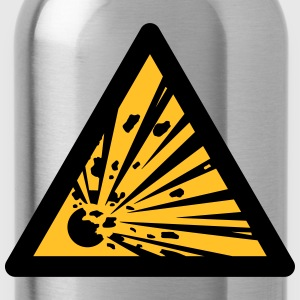 Hazard Symbol - Explosives (2-color) Hoodies & Sweatshirts - Water Bottle