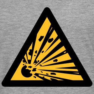 Hazard Symbol - Explosives (2-color) Hoodies & Sweatshirts - Men's Premium Longsleeve Shirt