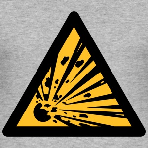 Hazard Symbol - Explosives (2-color) Hoodies & Sweatshirts - Men's Slim Fit T-Shirt