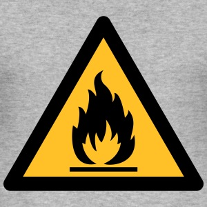 Hazard Symbol - Flammable (2-color) Hoodies & Sweatshirts - Men's Slim Fit T-Shirt