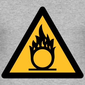 Hazard Symbol - Oxidizers (2-color) Hoodies & Sweatshirts - Men's Slim Fit T-Shirt