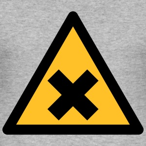 Hazard Symbol - Harmful Substances (2-color) Hoodies & Sweatshirts - Men's Slim Fit T-Shirt