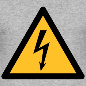 Hazard Symbol - High Voltage (2-color) Hoodies & Sweatshirts - Men's Slim Fit T-Shirt