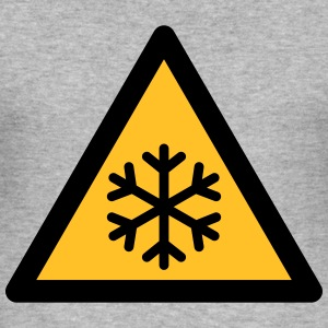 Hazard Symbol - Low Temperatures (2-color) Hoodies & Sweatshirts - Men's Slim Fit T-Shirt
