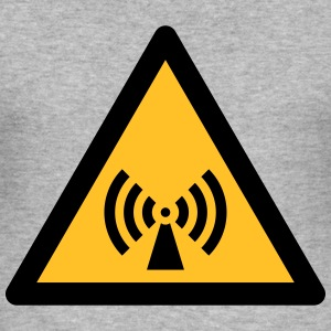 Hazard Symbol - Non-Ionizing Radiation (2-color) Hoodies & Sweatshirts - Men's Slim Fit T-Shirt