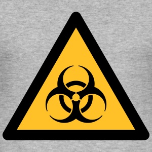 Hazard Symbol - Biohazard (2-color) Hoodies & Sweatshirts - Men's Slim Fit T-Shirt