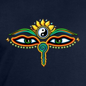 Eyes of Buddha, symbol wisdom & enlightenment,  T-Shirts - Men's Sweatshirt by Stanley & Stella
