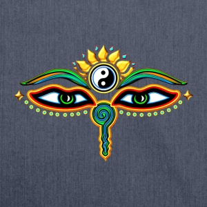 Eyes of Buddha, symbol wisdom & enlightenment,  T-shirts - Skuldertaske af recycling-material