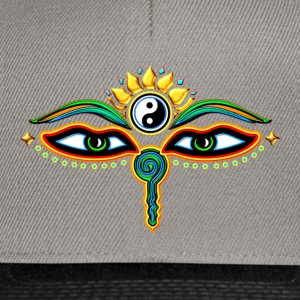 Eyes of Buddha, symbol wisdom & enlightenment,  Tee shirts - Casquette snapback