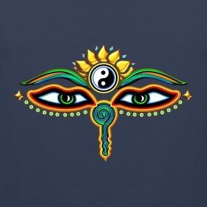 Eyes of Buddha, symbol wisdom & enlightenment,  Hoodies & Sweatshirts - Men's Premium Tank Top