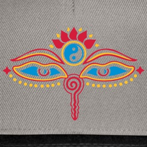 Buddha Eyes, Lotus, symbol wisdom & enlightenment Tee shirts - Casquette snapback