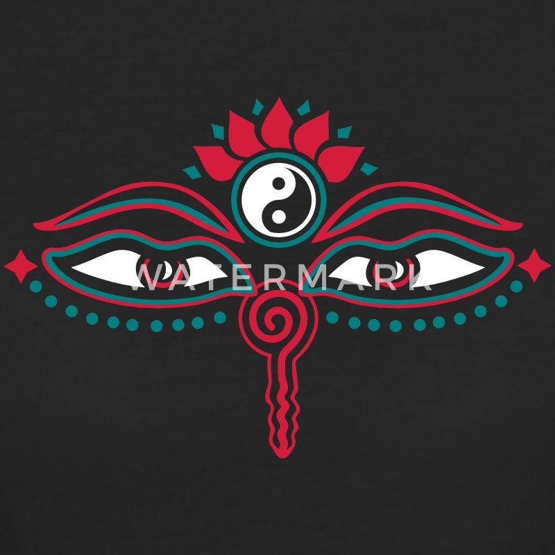 Buddha Eyes, Lotus, symbol wisdom & enlightenment T-shirts - Organic damer