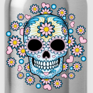 Colorful Sugar Skull Shirts - Water Bottle
