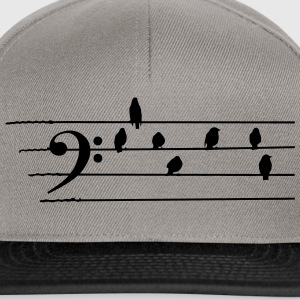 Musica - Bass Clef - uccelli come note Felpe - Snapback Cap