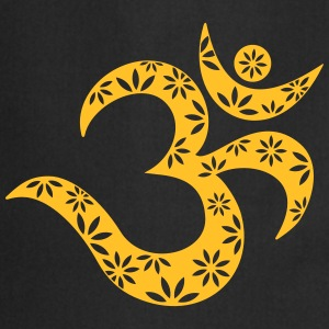 OM Mantra symbol, flowers, patterns, Aum, Buddhism T-shirts - Förkläde