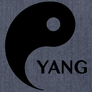 Yang looking for Yin, Part 2, tao, dualities Camisetas - Bandolera de material reciclado