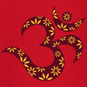 OM flower symbol, mantra, pattern, Aum, Buddhism, T-Shirts - Baby Long Sleeve T-Shirt