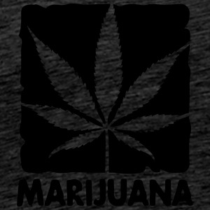 marijuana in boxed Hoodies & Sweatshirts - Men's Premium T-Shirt