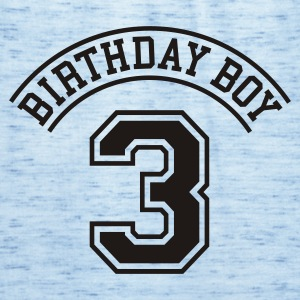 Celeste Birthday boy 3 jaar (rugprint) Kinder shirts - Vrouwen tank top van Bella
