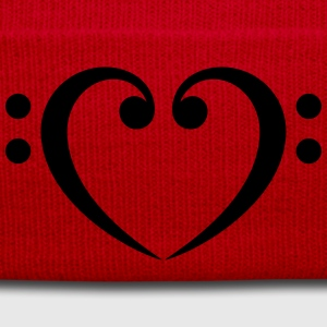 Bass Clef Heart - Glow in the Dark! T-Shirts - Winter Hat